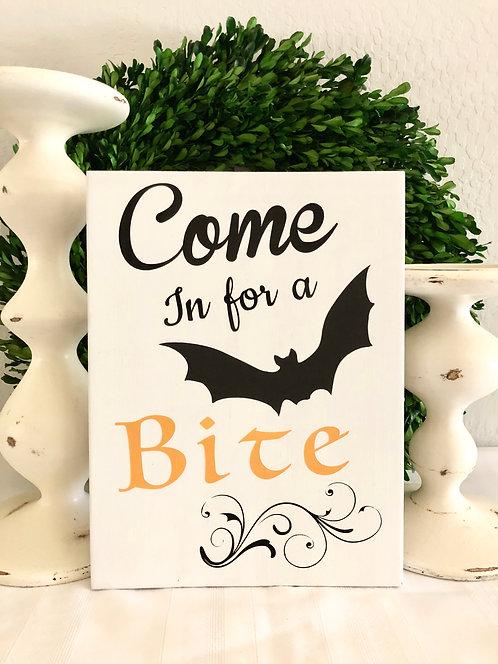 Come in for a Bite Sign - Halloween Sign - Halloween Front Door Sign - Halloween