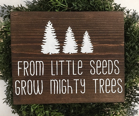 From Little Seeds Grow Mighty Trees - Nursery Sign