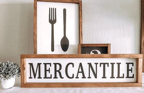 Mercantile Sign - Farmhouse Sign - Kitchen Sign