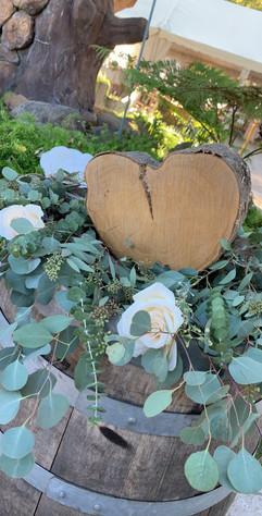 Wood Heart Round