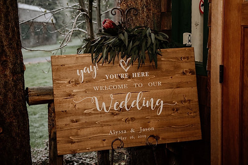 Wedding Welcome Sign - Wedding Sign - Custom Welcome Sign - Wood Sign