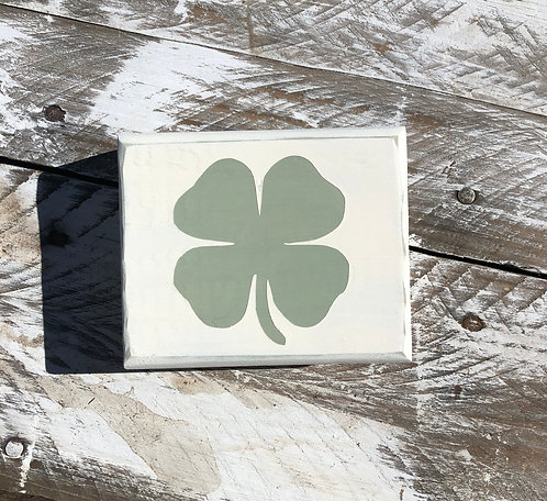 St. Patricks Day Decor - Shamrock - Shamrock Block - St. Patricks Day Sign - Man