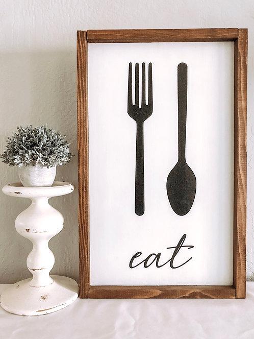 Eat Sign - Kitchen Sign - Kitchen Decor - Farmhouse Signs