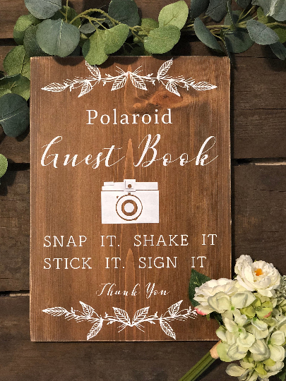 Polaroid Guest Book Sign - Wedding Guest Book Sign - Wedding Decor