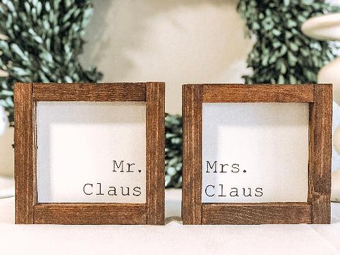Mr. Claus - Mrs Claus