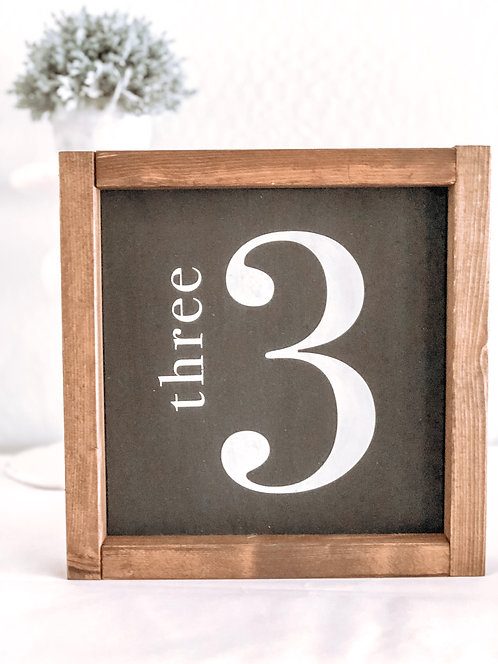 Family Number Signs - Number Sign - Living Room Wall Decor