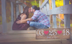 Custom save the date sign