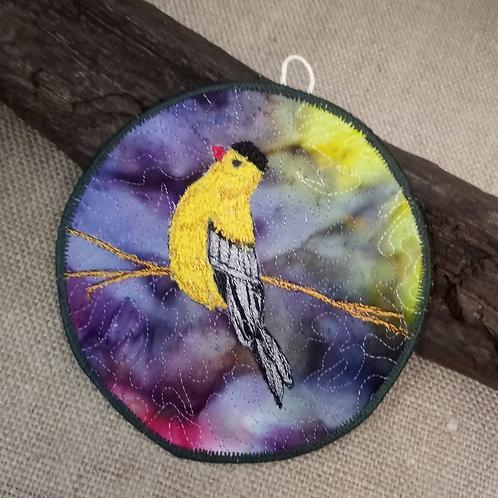 #84 Thread painted bird #1665