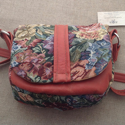 #10 Leather And Fabric Purse