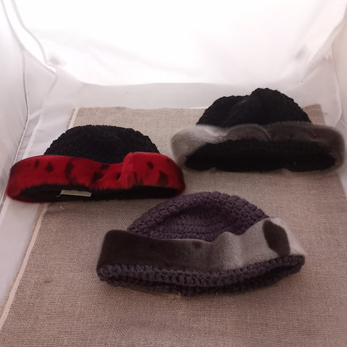 #10 Crocheted Hat With Sealskin