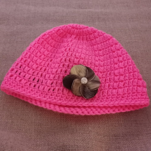 #10 Crocheted Hat With Sealskin Flower