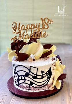 Music Notes Red Velvet Cake