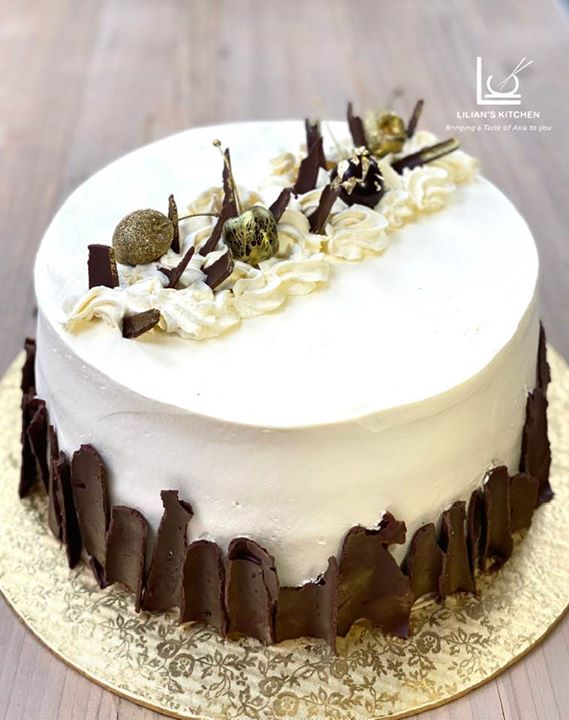 Black Forest Cake 24 Carat Gold Leaves