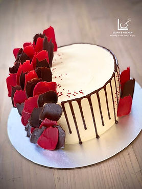Red Velvet Chocolate Drip Cake with Mada