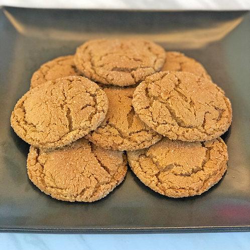 Chai Gingersnap Cookies