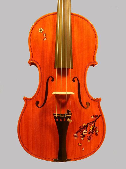 装飾バイオリン2019年 富士と桜