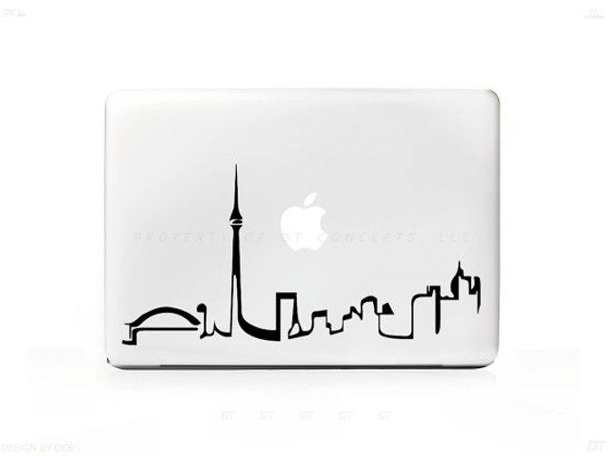 Skyline Of Toronto Sticker Exoticlifestyle