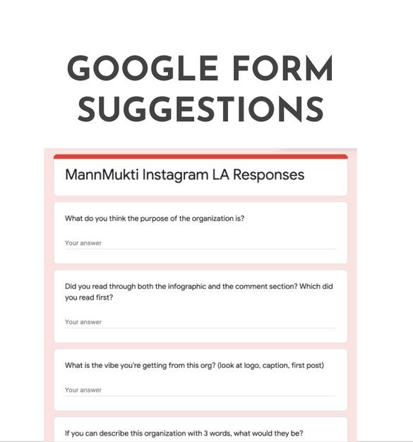 Audience Research: Google Form Surveys