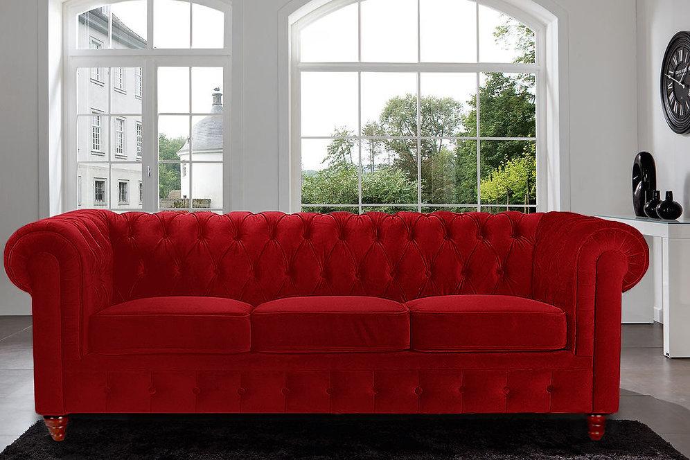 Tufted Velvet Chesterfield Sofa | sofamind