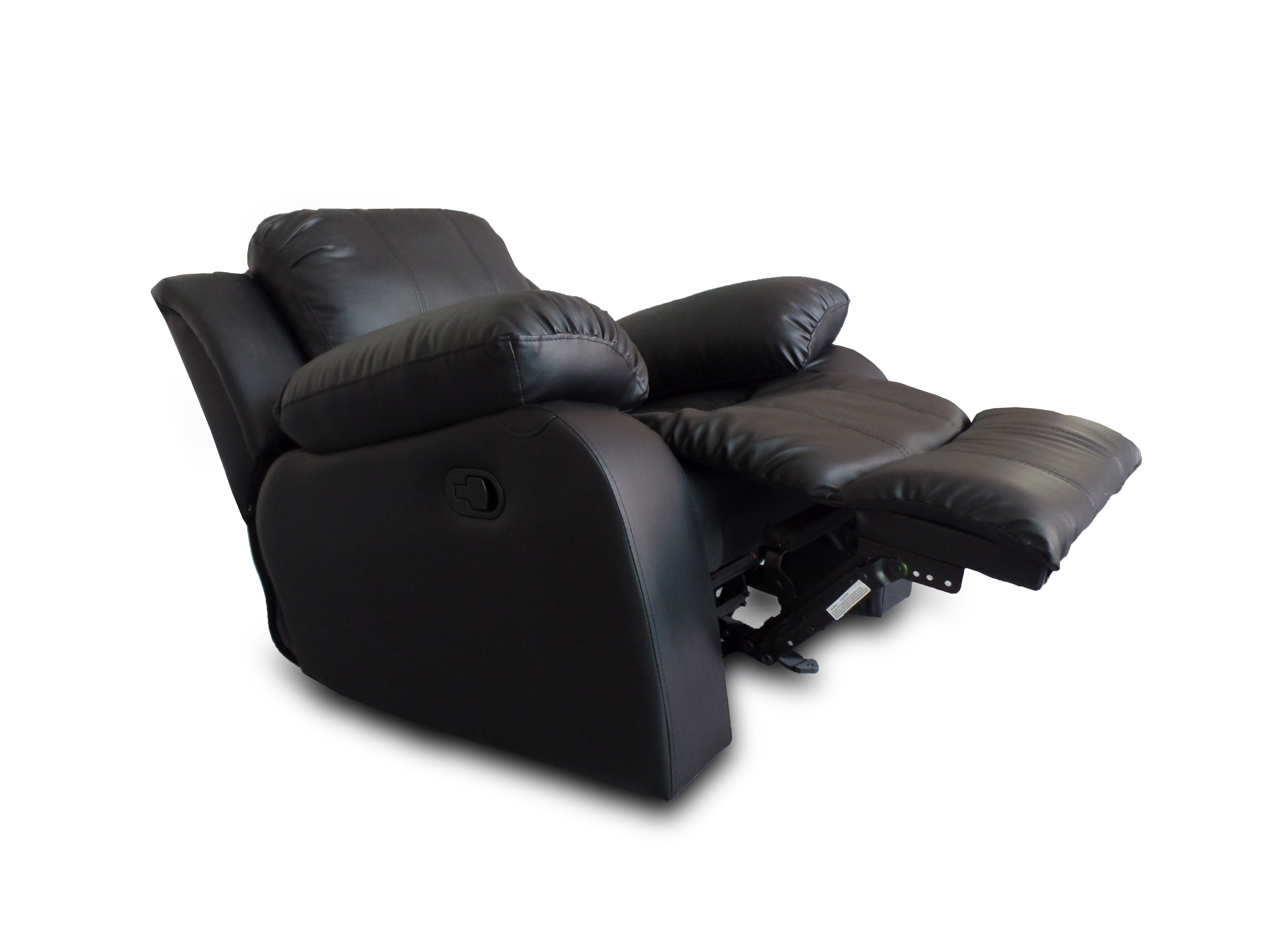 Oversize and Overstuffed Single Seat Bonded Leather Recliner Chair comfortable