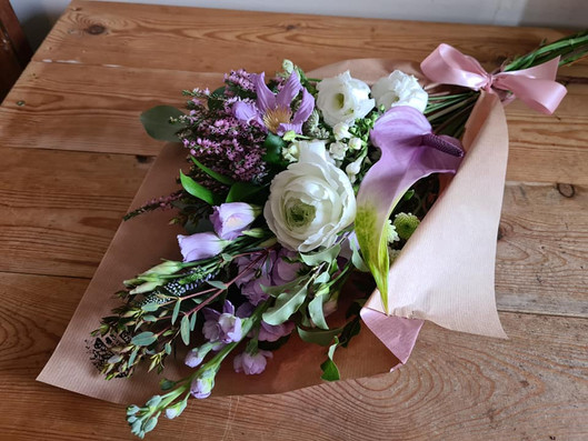 Lilac and White pastel flower wrap