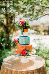 Bright & Bold Wedding Cake