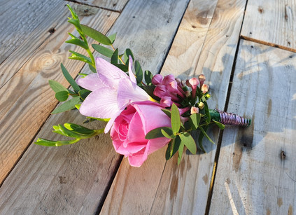Rose & Freesia Corsage wedding flowers
