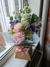Pink country style Hydrangea gift handtied flower bouquet