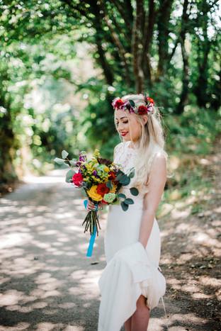 Bright & Bold Bride Hand Tied Bouquet