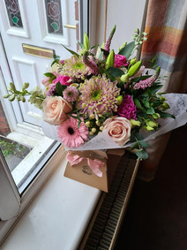 Large Pink handtied flower gift bouquet