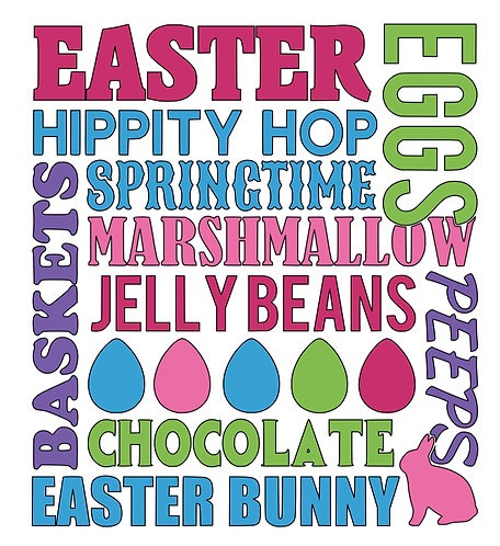Easter Subway art Sign
