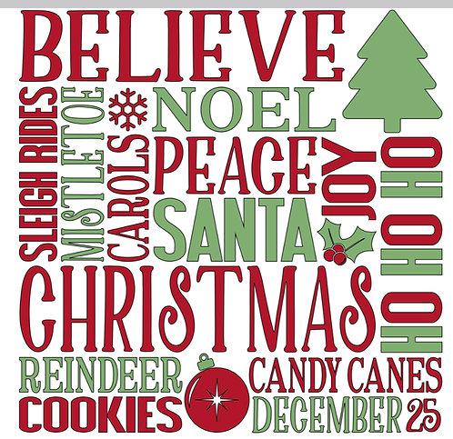 Christmas Subway art Sign