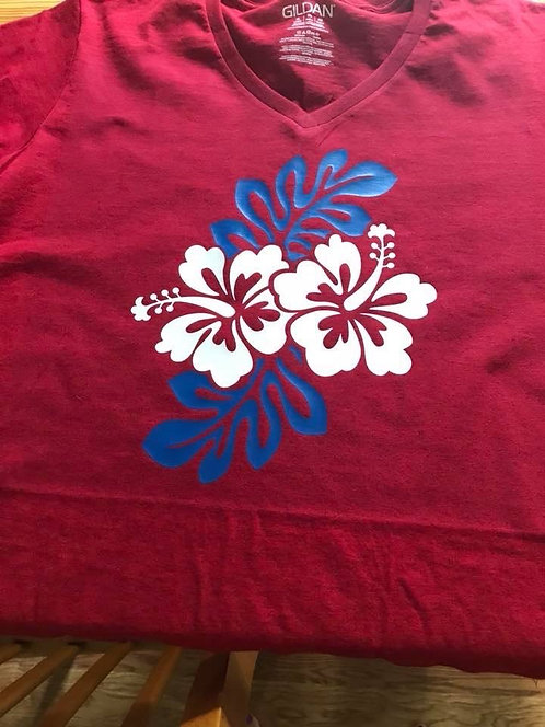 Custom Vinyl Print T-shirt