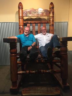 Patrick&Dwight in big chair