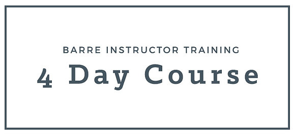 4 Day Barre Instructor Training Course - Australia