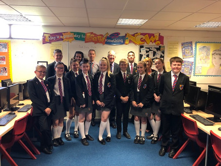 School Council Leads Question Time with Lord McNally