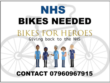 We're supporting Bikes For Heroes ...