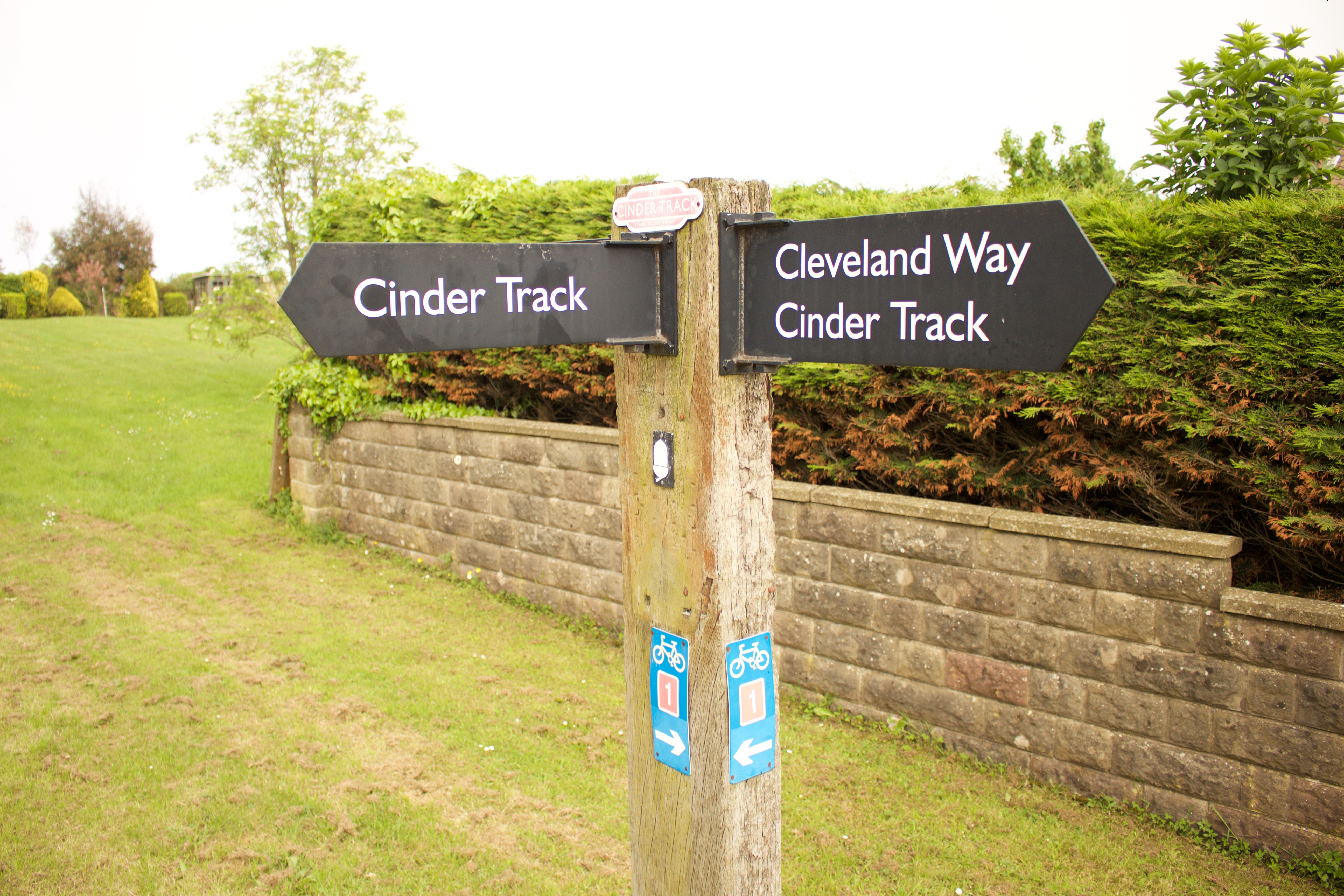 The cycle and walking trails