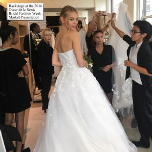 Behind-The Scenes at the 2016 Oscar De La Renta Bridal Fashion Week Market Presentation