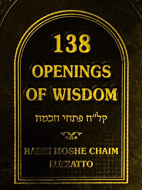 138 OPENINGS OF WISDOM. 01/18/2021