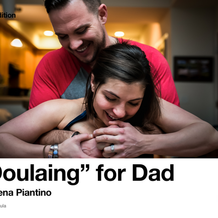 """Doulaing"" for Dads"