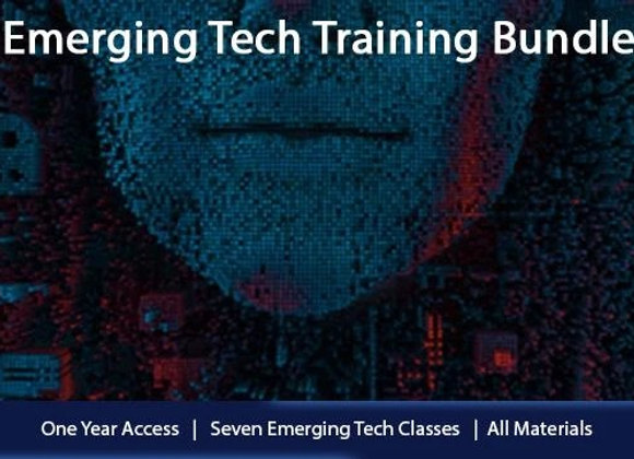 7 Emerging Tech Training Bundle Online: Courses + Material + 5 Exam Vouchers