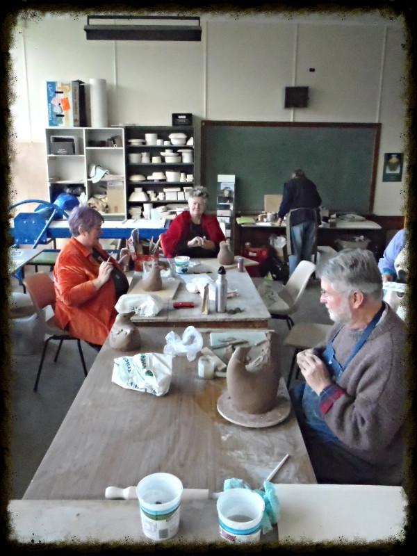 Bird workshop at Tasmanian Ceramics Association