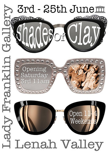 Poster of Shades of Clay exhibition