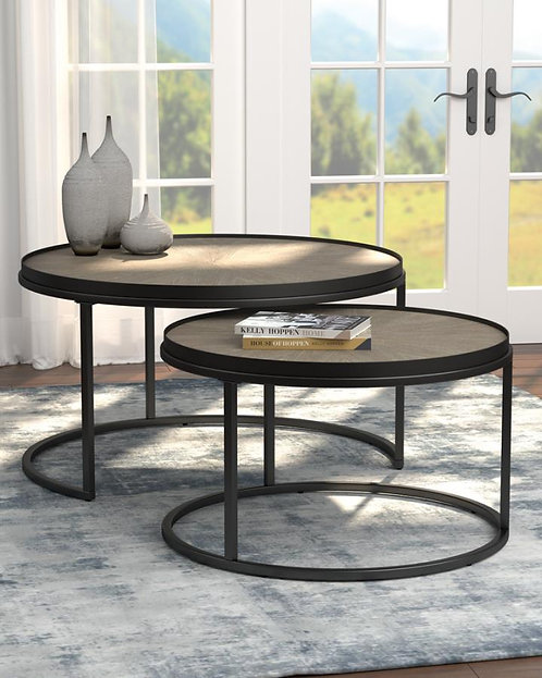 931215 2pc Nesting Coffee Tables