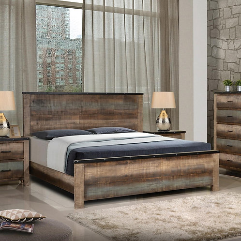 205091 Rustic Style Bed