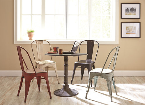 100063  Round Industrial Dining Set