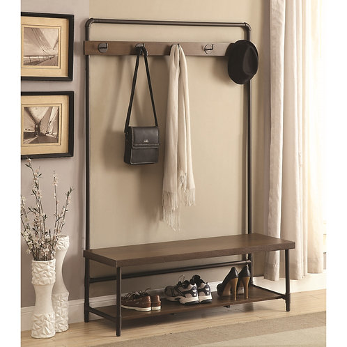 902921 Industrial Hall Tree Coat Rack