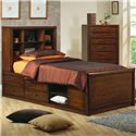 400280 Bookcase Bed with Underbed Storage