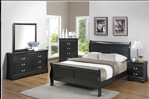 212411Sleigh Bed